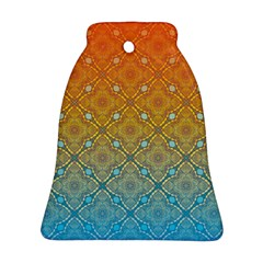 Ombre Fire And Water Pattern Bell Ornament (2 Sides) by TanyaDraws