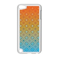 Ombre Fire And Water Pattern Apple Ipod Touch 5 Case (white) by TanyaDraws