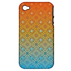 Ombre Fire And Water Pattern Apple Iphone 4/4s Hardshell Case (pc+silicone) by TanyaDraws