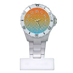 Ombre Fire And Water Pattern Plastic Nurses Watch by TanyaDraws