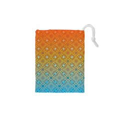 Ombre Fire And Water Pattern Drawstring Pouches (xs)  by TanyaDraws