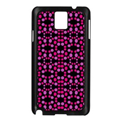 Dots Pattern Pink Samsung Galaxy Note 3 N9005 Case (black) by BrightVibesDesign