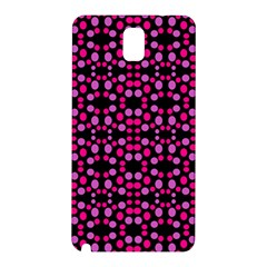 Dots Pattern Pink Samsung Galaxy Note 3 N9005 Hardshell Back Case by BrightVibesDesign