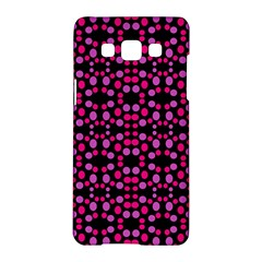 Dots Pattern Pink Samsung Galaxy A5 Hardshell Case  by BrightVibesDesign