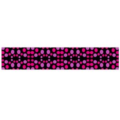 Dots Pattern Pink Flano Scarf (large) by BrightVibesDesign