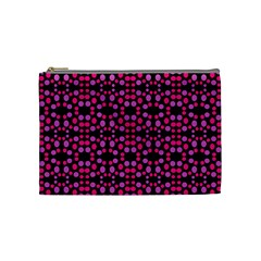 Dots Pattern Pink Cosmetic Bag (medium)  by BrightVibesDesign