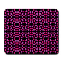 Dots Pattern Pink Large Mousepads by BrightVibesDesign