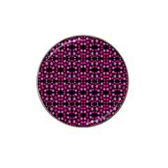 Dots Pattern Pink Hat Clip Ball Marker by BrightVibesDesign