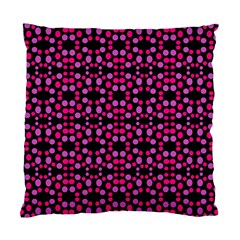 Dots Pattern Pink Standard Cushion Case (two Sides) by BrightVibesDesign