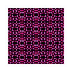 Dots Pattern Pink Acrylic Tangram Puzzle (6  X 6 ) by BrightVibesDesign