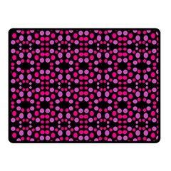 Dots Pattern Pink Double Sided Fleece Blanket (small)  by BrightVibesDesign