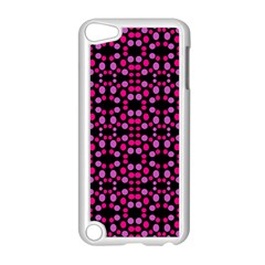 Dots Pattern Pink Apple Ipod Touch 5 Case (white) by BrightVibesDesign