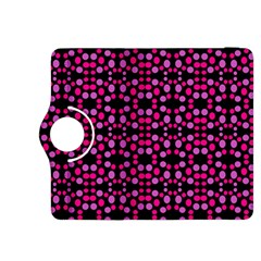 Dots Pattern Pink Kindle Fire Hdx 8 9  Flip 360 Case by BrightVibesDesign