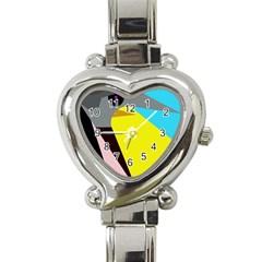Angry Bird Heart Italian Charm Watch by Valentinaart