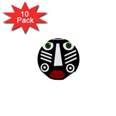 African Mask 1  Mini Buttons (10 Pack)  by Valentinaart