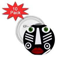 African Mask 1 75  Buttons (10 Pack) by Valentinaart