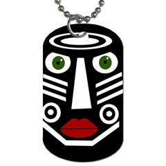 African Mask Dog Tag (two Sides) by Valentinaart
