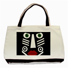 African Mask Basic Tote Bag (two Sides) by Valentinaart