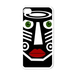 African Mask Apple Iphone 4 Case (white) by Valentinaart