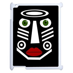 African Mask Apple Ipad 2 Case (white) by Valentinaart