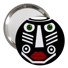 African mask 3  Handbag Mirrors by Valentinaart
