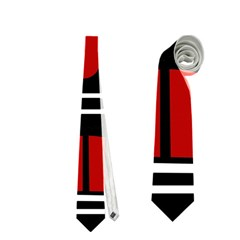 African Red Mask Neckties (two Side)  by Valentinaart