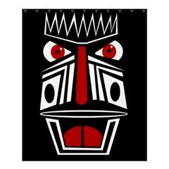 African Red Mask Shower Curtain 60  X 72  (medium)  by Valentinaart