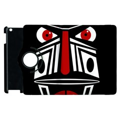 African Red Mask Apple Ipad 3/4 Flip 360 Case by Valentinaart