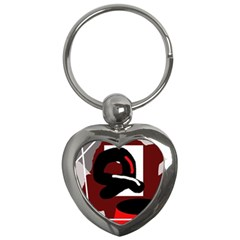 Crazy Abstraction Key Chains (heart)  by Valentinaart