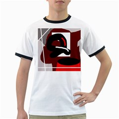 Crazy abstraction Ringer T-Shirts by Valentinaart