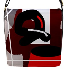 Crazy Abstraction Flap Messenger Bag (s) by Valentinaart