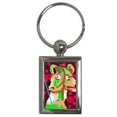 Abstract Animal Key Chains (rectangle)  by Valentinaart