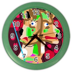 Abstract Animal Color Wall Clocks by Valentinaart