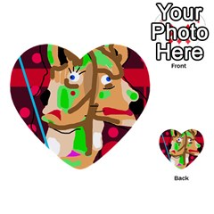 Abstract Animal Multi Purpose Cards (heart)  by Valentinaart