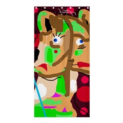 Abstract Animal Shower Curtain 36  X 72  (stall)  by Valentinaart