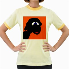 Black sheep Women s Fitted Ringer T-Shirts by Valentinaart