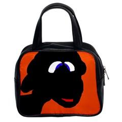 Black Sheep Classic Handbags (2 Sides) by Valentinaart