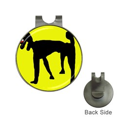 Black Dog Hat Clips With Golf Markers by Valentinaart