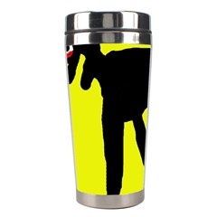 Black Dog Stainless Steel Travel Tumblers by Valentinaart