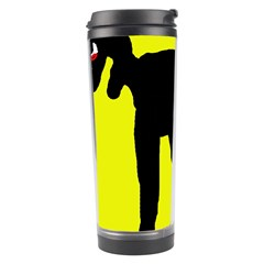 Black Dog Travel Tumbler by Valentinaart