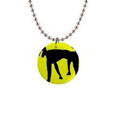 Black Dog Button Necklaces by Valentinaart