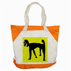 Black Dog Accent Tote Bag by Valentinaart