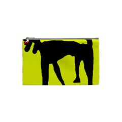 Black Dog Cosmetic Bag (small)  by Valentinaart