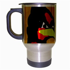 Angry Bird Travel Mug (silver Gray) by Valentinaart