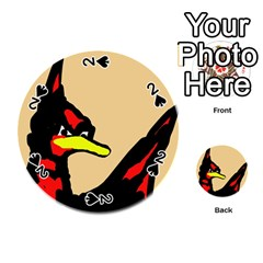 Angry Bird Playing Cards 54 (round)  by Valentinaart