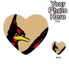 Angry Bird Multi Purpose Cards (heart)  by Valentinaart