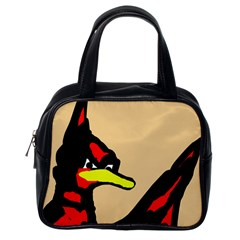 Angry Bird Classic Handbags (one Side) by Valentinaart