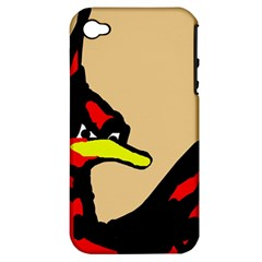 Angry Bird Apple Iphone 4/4s Hardshell Case (pc+silicone) by Valentinaart