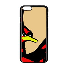 Angry Bird Apple Iphone 6/6s Black Enamel Case by Valentinaart