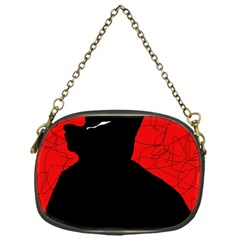 Red And Black Abstract Design Chain Purses (one Side)  by Valentinaart